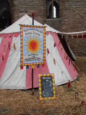 The Storyteller's Booth at the Medieval Fayre