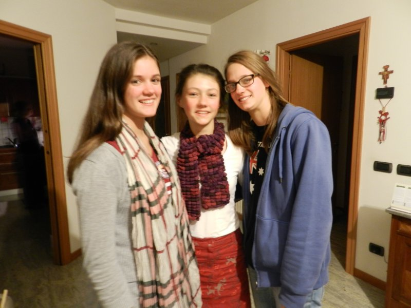 With Benedetta and Elena the Day I Arrived