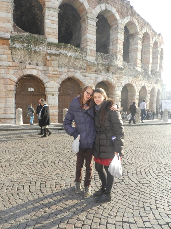 Outside the Arena at Verona