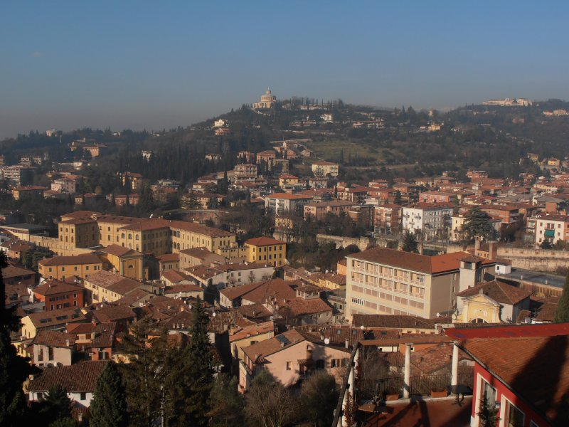 The View Over Verona From the Top of the Hill