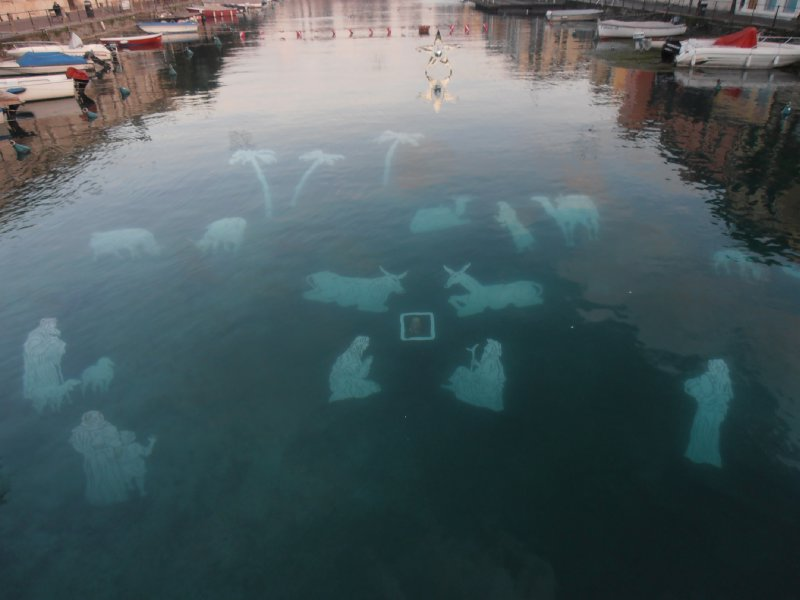 The Underwater Nativity in the Lake at Peschiera