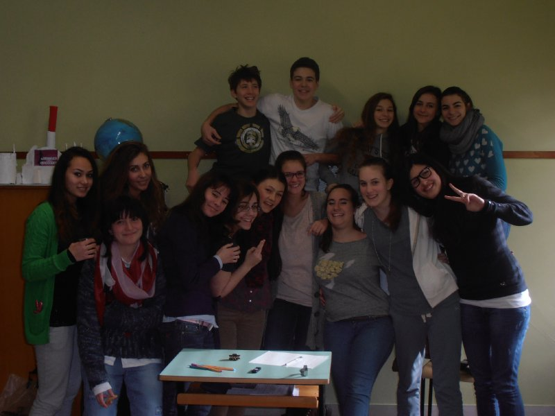 With My Class on The Last Day!