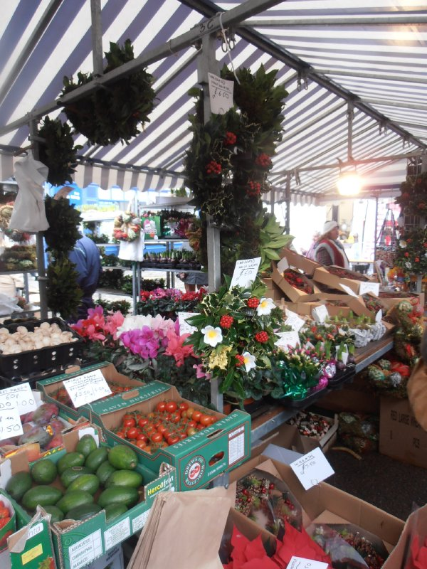 Holly and Produce at the General Market in Ludlow