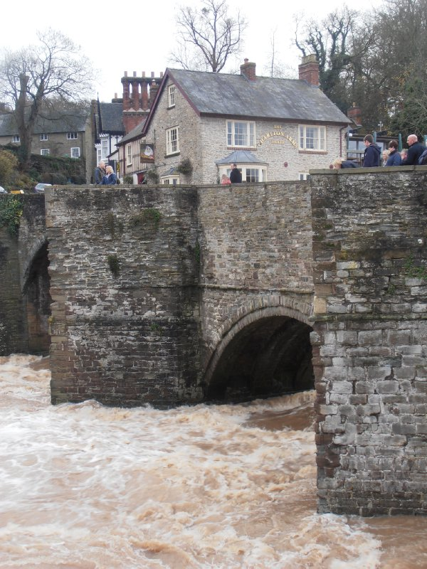 The Wild River Teme Flowing Under the Bridge at Ludlow