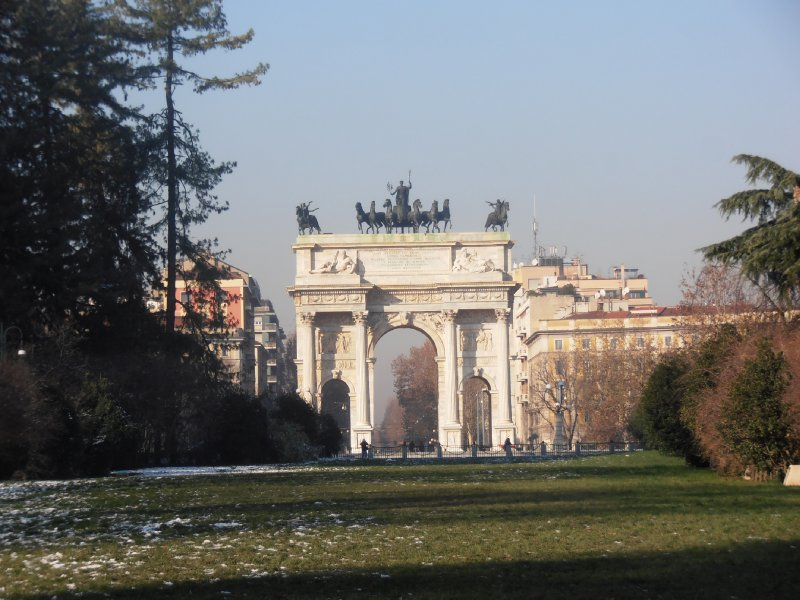 Arco Della Pace Looking across the Park