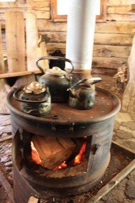 The stove at Hielo de Azul