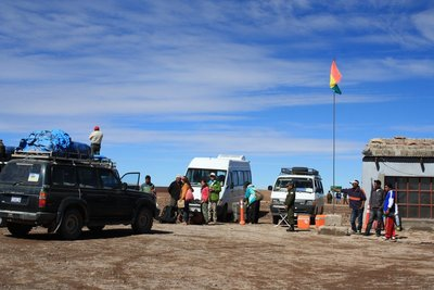 Farewell at Bolivian Chilean Border