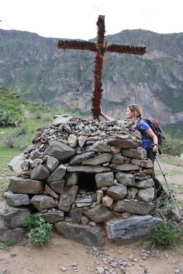 This cross was situated about 200 yards after crossing the landslide. A picture tells a thousand words!!!!!!!