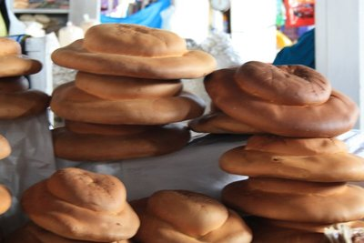 hand made breads in the shape of hats