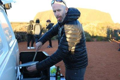 Preparing Chilli con Carne at Uluru