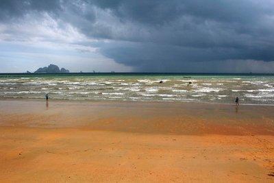 Ao Nang beach with storm brewing