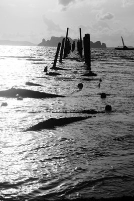 Ruins of old pier