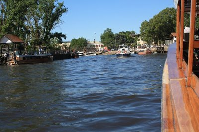 Boat ride from Tigre to our B&B