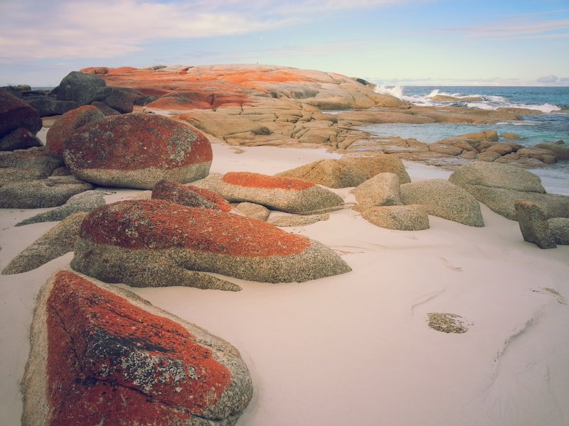 Beach at Bay of Fires