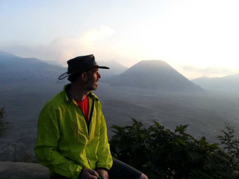 sunset at Mount Bromo