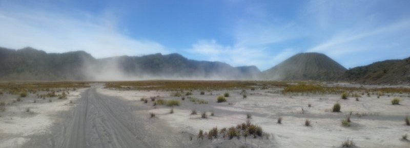swirling winds in caldera