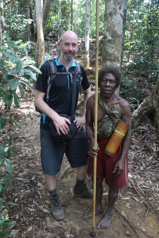 Me and Orang Asli hunter