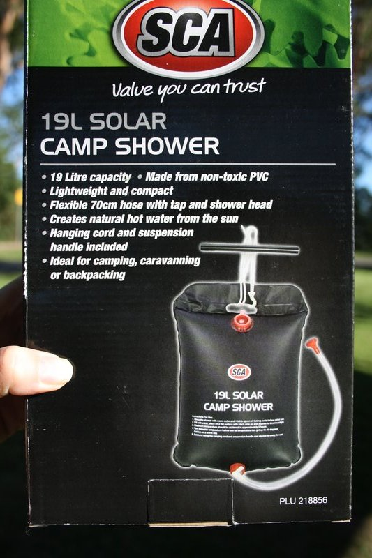 Solar shower