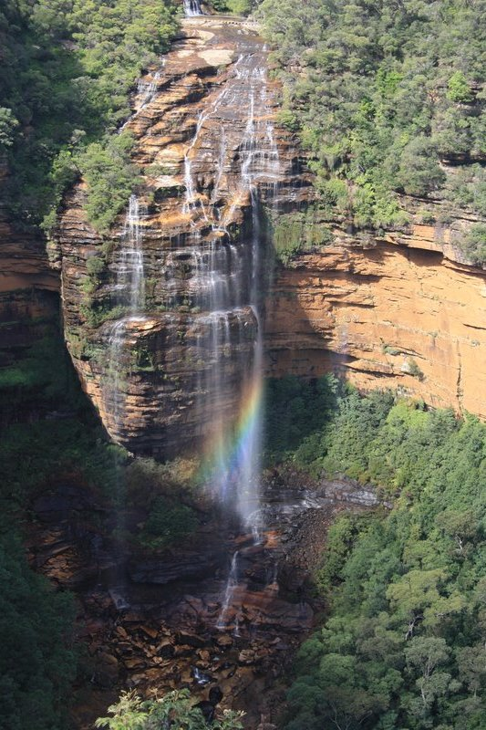 Rainbow in Wentworth Falls, Blue Mountains