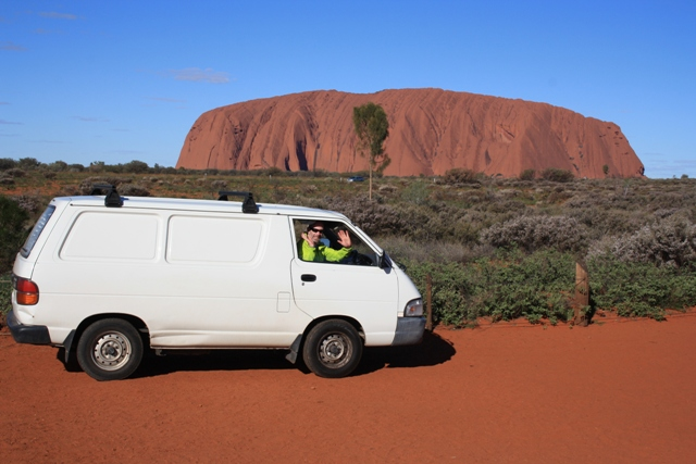 Vinnie at Uluru