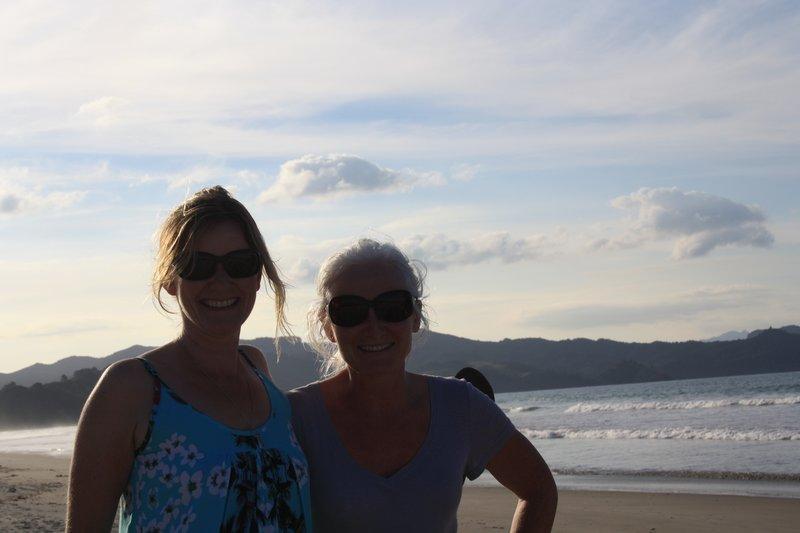 A & A on beach