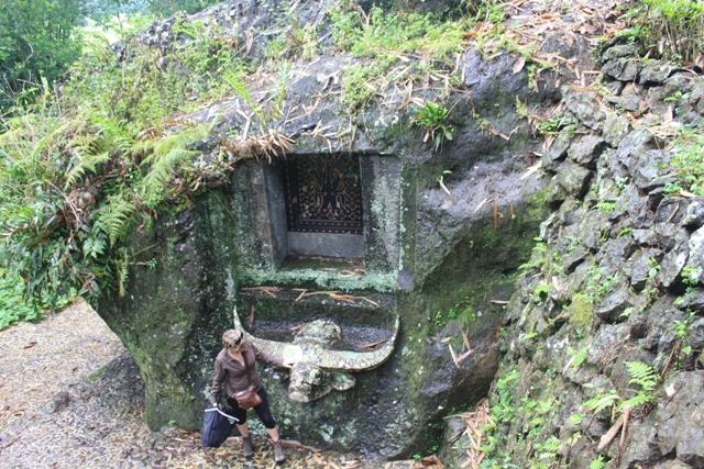 Elaborate stone grave