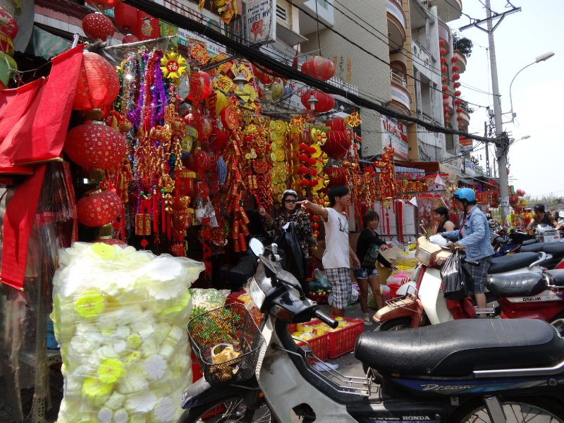 more Tet decorations
