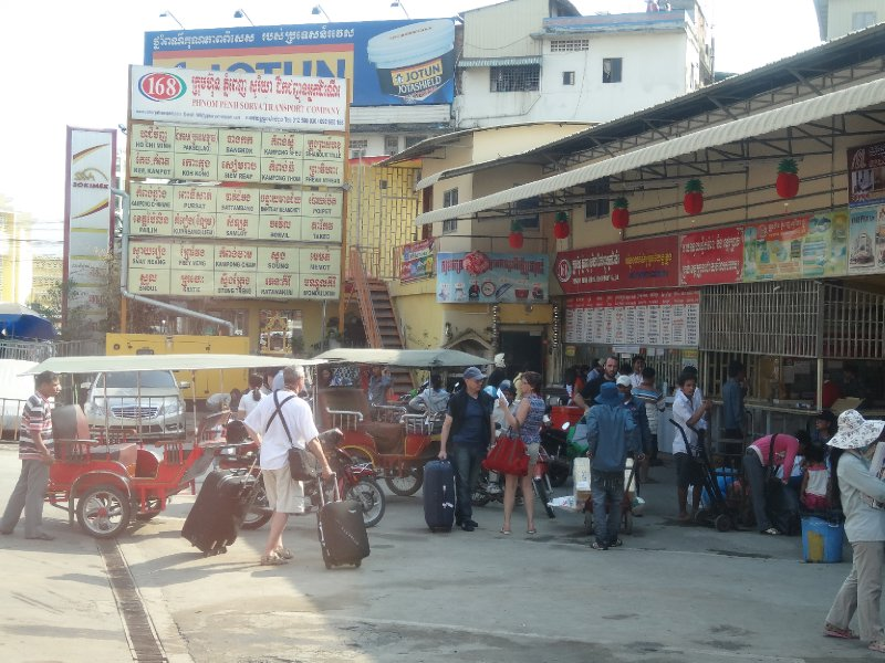 Departure from the Phnom Penh Psar Thmei bus station