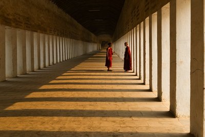 Novices at The Corridor of Shwezigon Paya