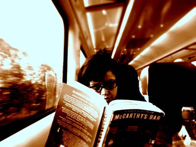On the train to Dingle, west Ireland