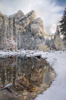 2nd Snow, 3 Brothers: Yosemite National Park