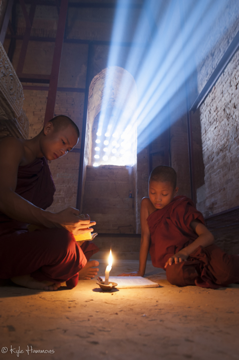 Buddhist Monks at Bagan