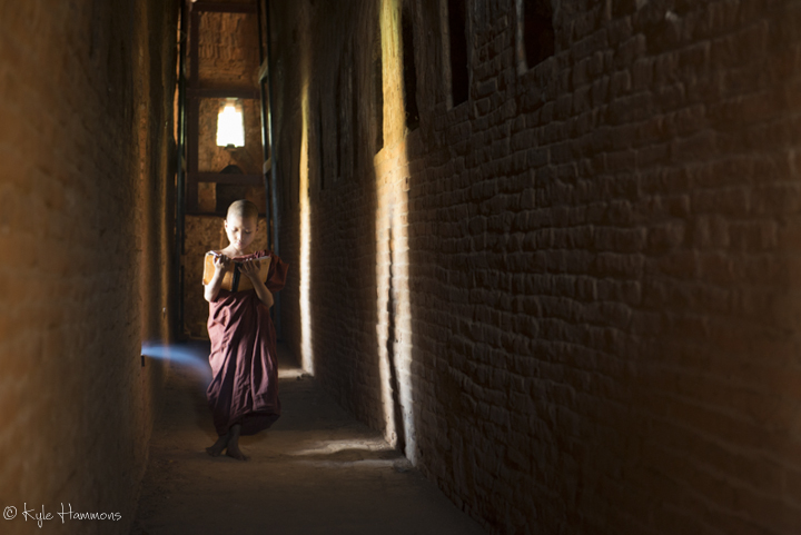 Monk in Bagan Hallway