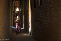 Monk in Bagan Hallway