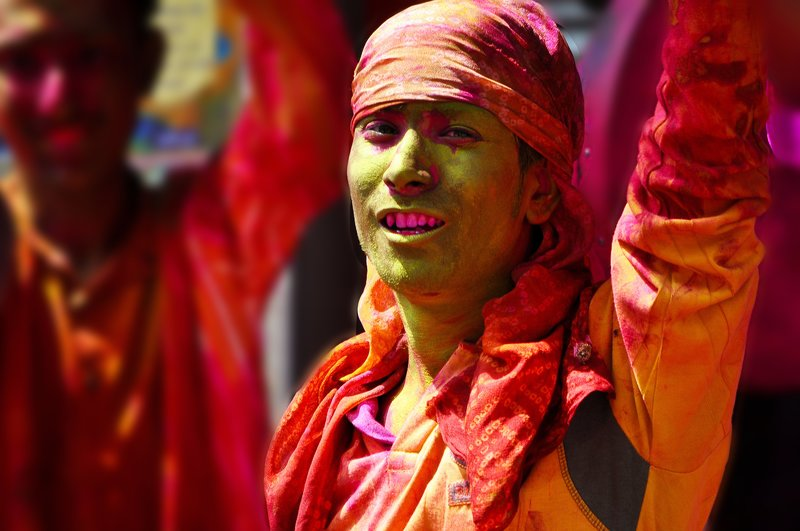 Holi .. a Hindu festival of colours ..