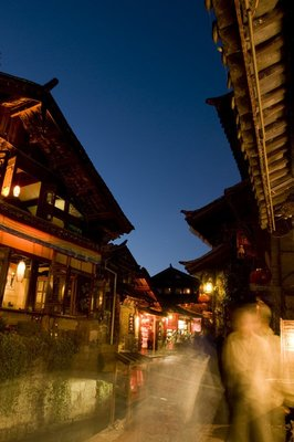 Twilight in Lijiang old town