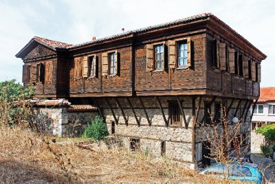 Wooden and Stone House