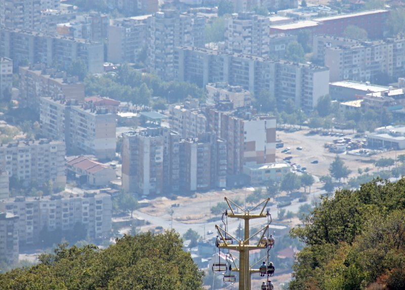 Sliven Bulgaria from Chair Lift
