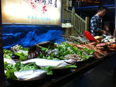 Fresh seafood for sale in XIamen, China