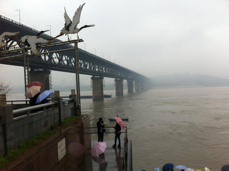 First bridge over the Yangtze River