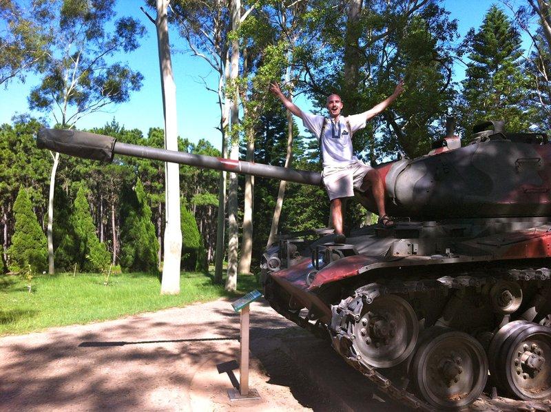 Tanks on show