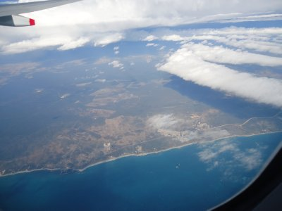 Flying over the Indian Ocean north of Perth WA