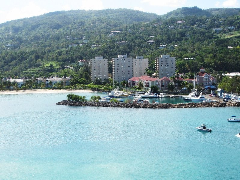The beautiful Ocho Rios in Jamaica.