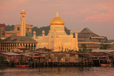 Golden light in Bandar Seri Begawan