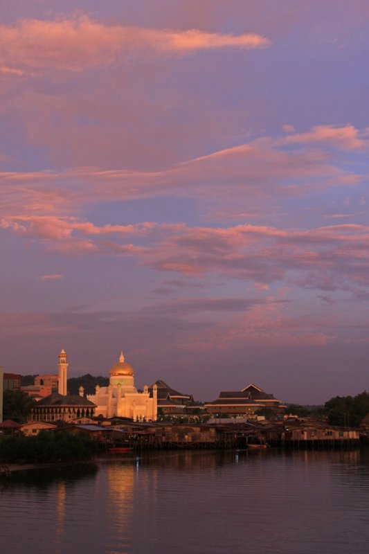 Sunset over Bandar Seri Begawan