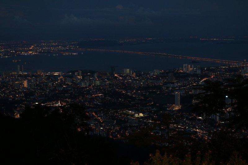 Penang at night from Penang Hill