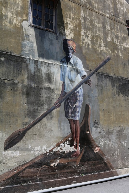 Street Art Boatman