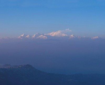 Mt. Kanchenjunga soaring over Darjeeling