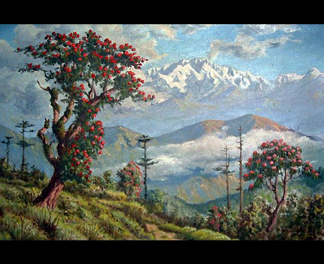 Darjeeling Hills: from an oil painting in the Ada Villa