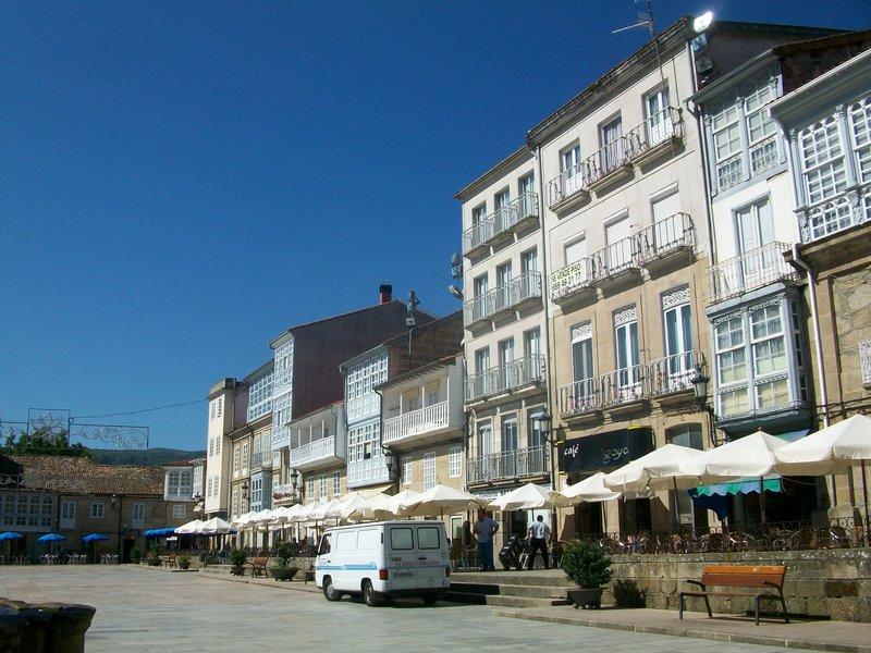 Plaza Mayor in Celanova, Spain
